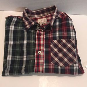 PEEK PLAID Button DOWN SHIRT Size XL 10
